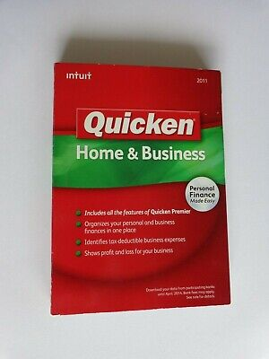 Intuit Quicken Home and Business 2011 For Windows(Factory sealed retail DVD case