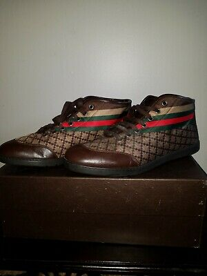 66444339f gucci shoes brown men 10 worn great condition in box with dust bag and laces