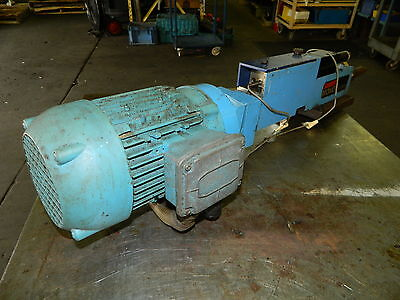 Suhner Mono Master Automatic Drill Unit w/ 3/4 HP Lafert AC Drive Motor, Used