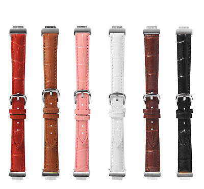 Soft Leather Wrist Band Strap Replacement For Fitbit Inspire/Hr Large Women Men