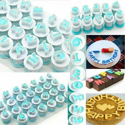 Alphabet Letter Number Fondant Cookie Cutter Mold Chocolate Cake Mould Tool TU