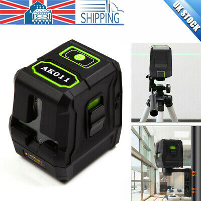 Self-Levelling 2 Line 360° Laser Level Green Rotary Vertical Horizontal Measure