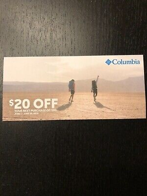Columbia Sportswear Coupon $20 off $100 - Expire June 30, 2019 - Coupon code