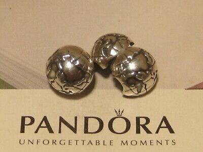 077c0632f PANDORA CHARM GLOBE Silver Clip Authentic with Gift Box 791182 ...