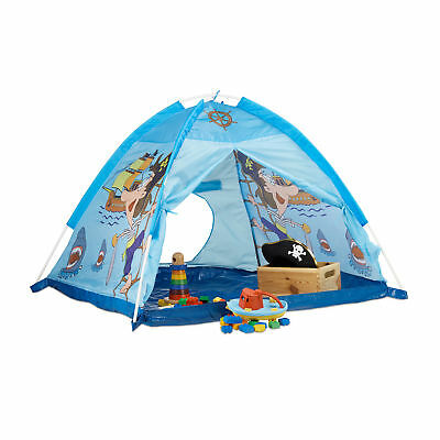 Pirate Play Tent in Blue, Playhouse for Boys Age 3 and Up, For Indoor & Outdoors