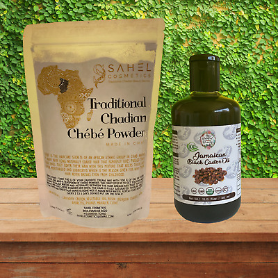250ml Jamaican Black Castor Oil and CHÉBÉ POWDER 50g-Grow hair -CHEBE