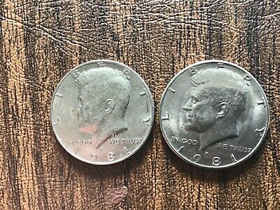1981 P/&D Kennedy Half Dollar coin of each *FREE SHIPPING * 1