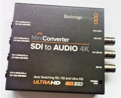 SDI to Audio 4K Mini Converter Blackmagic Design