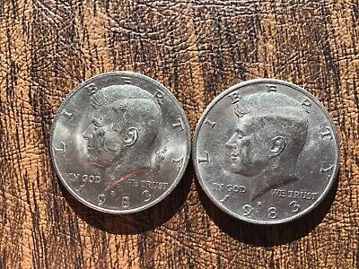 1983 P&D Kennedy Half Dollar  (1) coin of each *FREE SHIPPING*