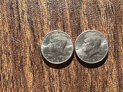 1988 P&D Kennedy Half Dollar  (1) coin of each *FREE SHIPPING *