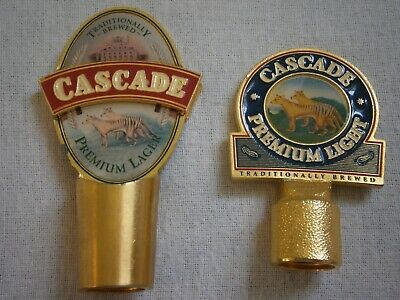 Cascade Premium Light Beer Tap Tops X 2 - Vgc - Man Cave