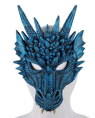 Dragon Mask blue color Halloween/Game of Thrones Fancy Dress