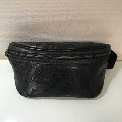ec2b01bfb Gucci 233269 520981 GG Imprime Waist Belt Pouch Body Bag Fanny Pack PVC  Leather