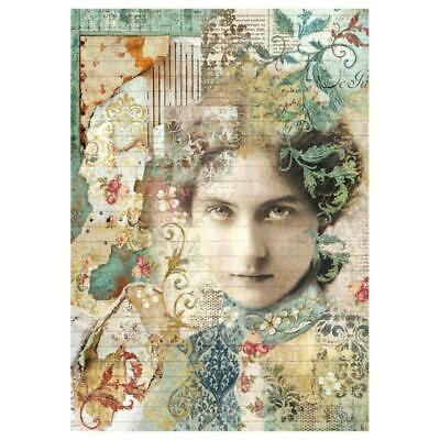 Rice Paper - Decoupage - Stamperia - 1 x A4 Size Sheet - Past Illusion