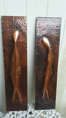 Rare Original Vintage Retro Copper Abstract Wall Art sculpture Wall Decoration.