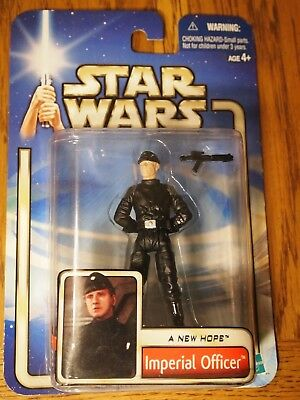 Hasbro 2002 Star Wars A New Hope Imperial Officer figure, mint on mint card