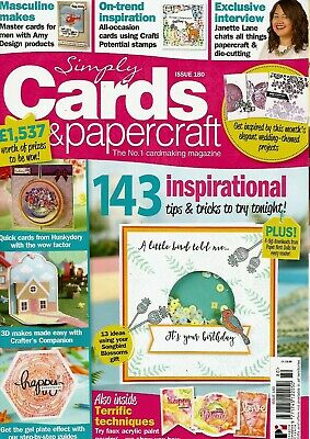 Simply Cards & Papercraft Magazine Issue 180. 2018    No Free Gift