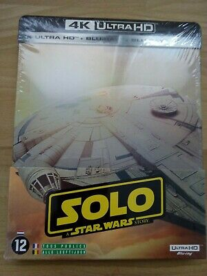 Star Wars Solo : 4 k Ultra HD + blu ray Faucon Millenium Steelbook neuf