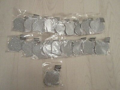 BN Set of 19 Packets of 6 Silver Bauble Shaped Gift Tags - Christmas - 114 total