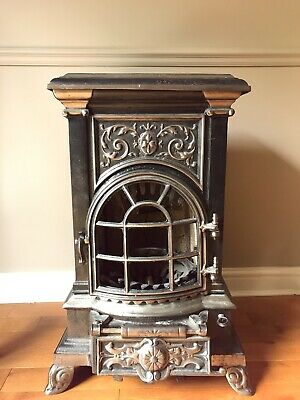 Vintage Antique French Cast Iron Stove / Wood Burner.