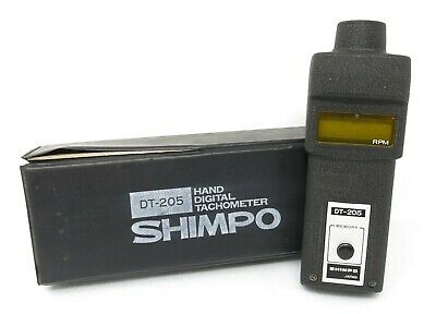 Shimpo DT-205 hand digital tachometer rpm made in japan tachimetro digitale