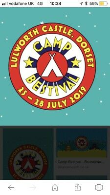 2 Adult Camp Bestival Weekend Camping Tickets + Parking