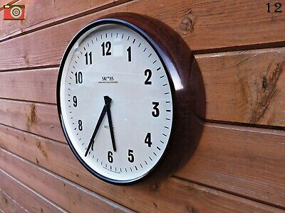 Vintage Smiths Wall Clock, Bakelite. Restored & Updated! Lovely Condition. Retro