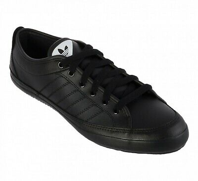 UK SIZE 11 adidas originals nizza lo remo leather trainers black g42769