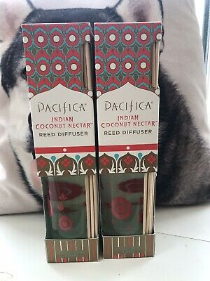 PACIFICA REED DIFFUSER 120ml-8 REEDS INDIAN COCONUT NECTAR-100% vegan X 2