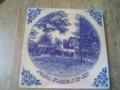 ANTIQUE CERAMIC TILE  electricity for lighting my park hotel nr Woodstock nh