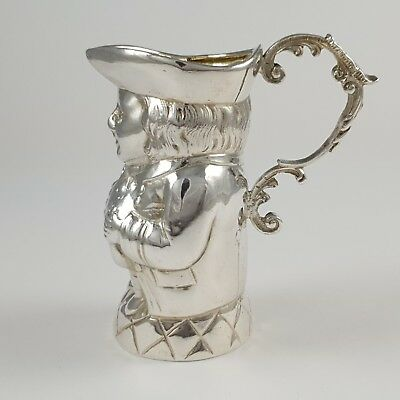Antique Edwardian Sterling Silver 'Toby jug' Cream Jug London Import HM 1904