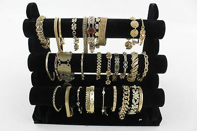 30 x Vintage & Retro Gold Tone BRACELETS inc. Ruby, Gold Plated, CZ, Crystal
