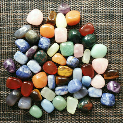 Mixed Naturalssorted Natural Collectable Tumbled Stones Crystal-Healing-Gem D4J1
