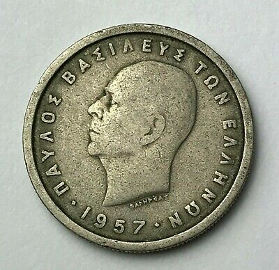 Dated : 1957 - Greece - 2 Drachmai - Greek Coin