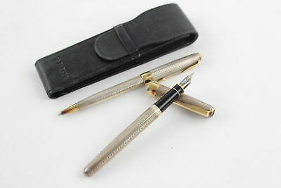 PARKER Sonnet Stamped .925 STERLING SILVER Fountain Pen, Ballpoint WRITING (58g)
