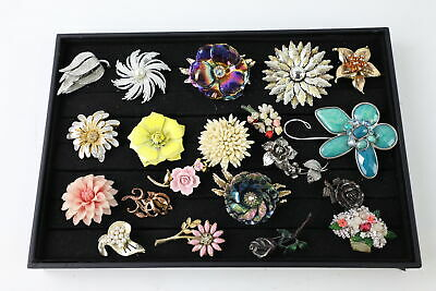 25 x Vintage & Retro FLORAL STATEMENT BROOCHES inc. Miracle, Kitsch, Quirky