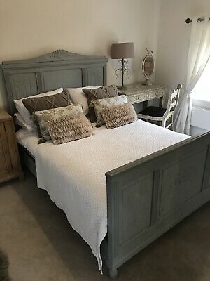 Beautiful French Vintage Antique Double Bed Frame