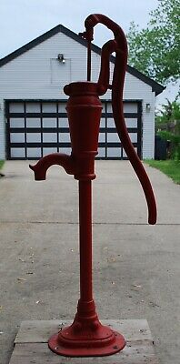 Vintage Old Peters Pump Kewanee IL Cast Iron Antique Hand Water Well Pump Tall