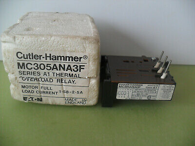 Cutler-Hammer (Eaton) MC305ANA3F Thermal Overload Relay Series A1 1.58 - 2.5 Amp