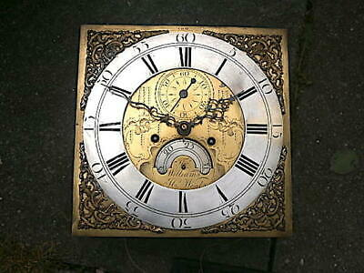 C1760  8 day LONGCASE GRANDFATHER CLOCK DIAL+movement 12X 12  'Thos. Williams H.