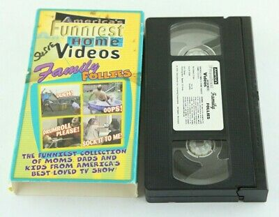 America's Funniest Home Videos VHS Family Follies 1999