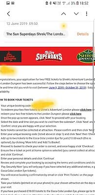 Sun Superdays Shrek's Adventure Or London Dungeon Booking  reference included