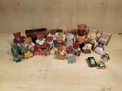 vintage maple town story 1986 Bandai dollhouse furniture animals