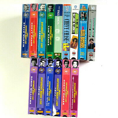 Lot Of 15 Saturday Night Live VHS The Best Of - Nine Sealed  1975-1991