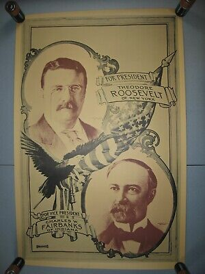 Theodore Roosevelt Presidential Election Campaign - Reproduction (1970's) Poster