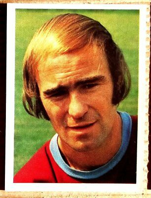 Panini Football Top Sellers 77 Peter Noble Burnley No 54 Very Good Sticker