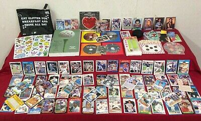 Junk Drawer Lot Collectibles Trading Cards, Golf Book, Odd And Ends #SG7