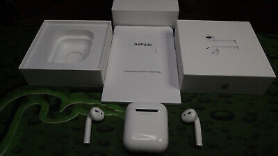 Apple AirPods Wireless Earbuds w/ Charging Case PARTS BROKEN 2nd Gen MV7N2AM/A
