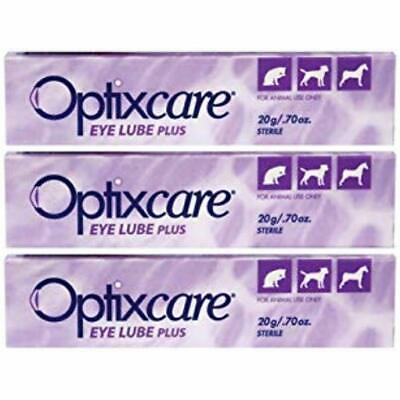 Eye Lube Plus + Hyaluron 20g Dog Cat Horses, Pack 3 Pet Supplies