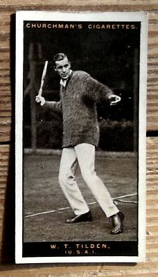 Churchmans Lawn Tennis Small Card No 46 W. T. Tilden Usa  Issued 1928 Very Good